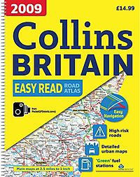 Collins Easy Read Road Atlas 2009 Britain