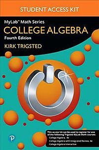 Mylab Math for Trigsted College Algebra + Guided Notebook Access Card