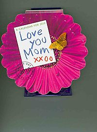 Love You Mom Die-Cut 2010 Calendar