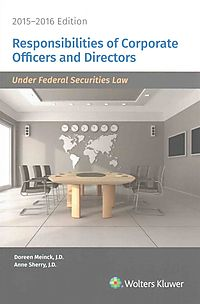 Responsibilities of Corporate Officers and Directors 2015-2016