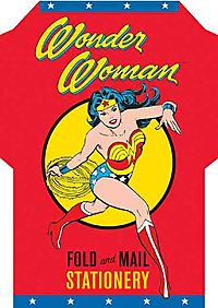 Wonder Woman Fold and Mail Stationary