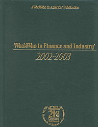Who's Who in Finance and Industry 2002-2003
