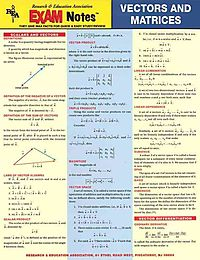 Vectors And Matrices Exam Notes