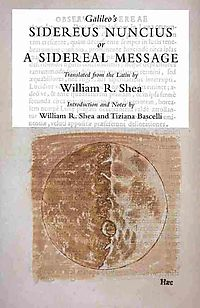 Galileo's Sidereus Nuncius or A Sidereal Message