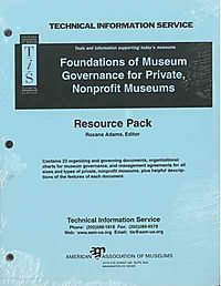 Foundation of Museum Governance for Private, Nonprofit Museum