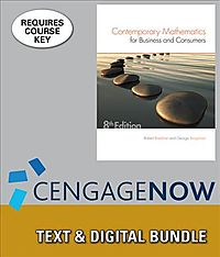 Contemporary Mathematics for Business & Consumers + Cengagenow, 1 Term Printed Access Card