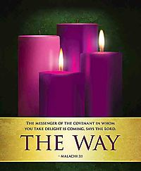 The Way Advent Candles Sunday 2 Bulletin, Large Pkg of 50