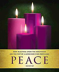 Peace Advent Candles Sunday 4 Bulletin, Large Pkg of 50