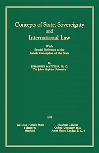 Concepts of State, Sovereignty and International Law