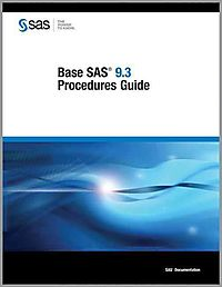 Base SAS 9.3 Procedures Guide