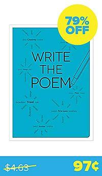 Write The Poem 6 X 8.5 (Lined + Text Journal)