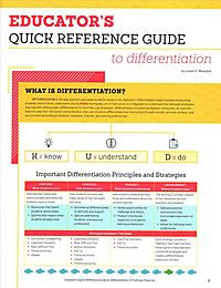 Educator's Quick Reference Guide to Differentiation