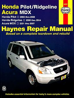 haynes honda pilot ridgeline acura mdx repair manual haynes rh hpb com 2006 honda ridgeline repair manual 2007 honda ridgeline repair manual torrent