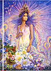 Virgo by Josephine Wall Foiled Journal