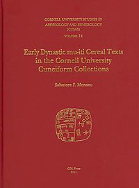 Early Dynastic Mu-iti Cereal Texts in the Cornell University Cuneiform Collections