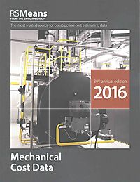 RSMeans Mechanical Cost Data 2016