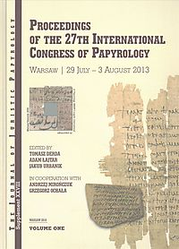 Proceedings of the 27th International Congress of Papyrology