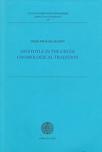 Aristotele in the Greek Gnomological Tradition