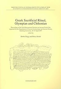 Greek Sacrificial Ritual, Olympian and Chthonian